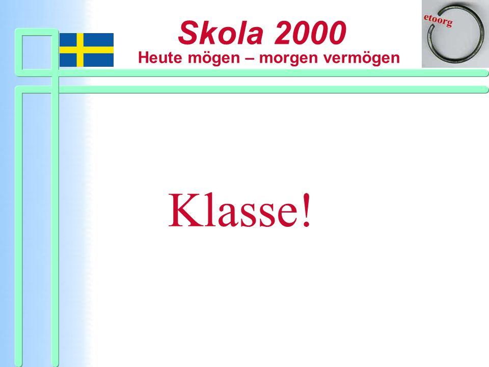 Skola 2000 Heute mögen – morgen vermögen Skola 2000