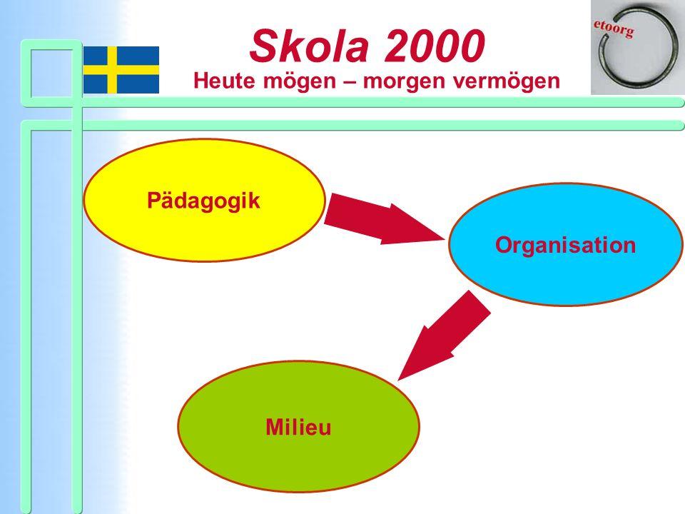 Skola 2000 Heute mögen – morgen vermögen Pädagogik Organisation Milieu
