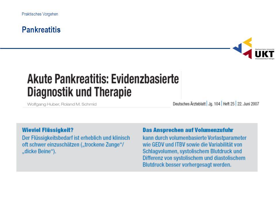 Pankreatitis Praktisches Vorgehen