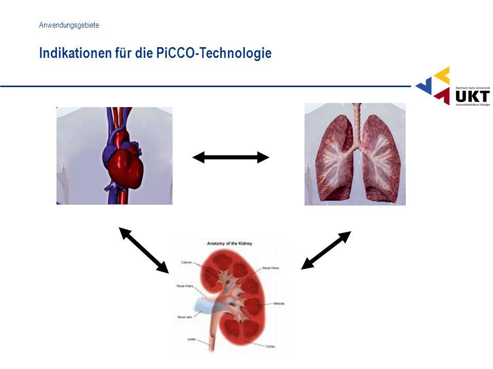 Indikationen für die PiCCO-Technologie Anwendungsgebiete