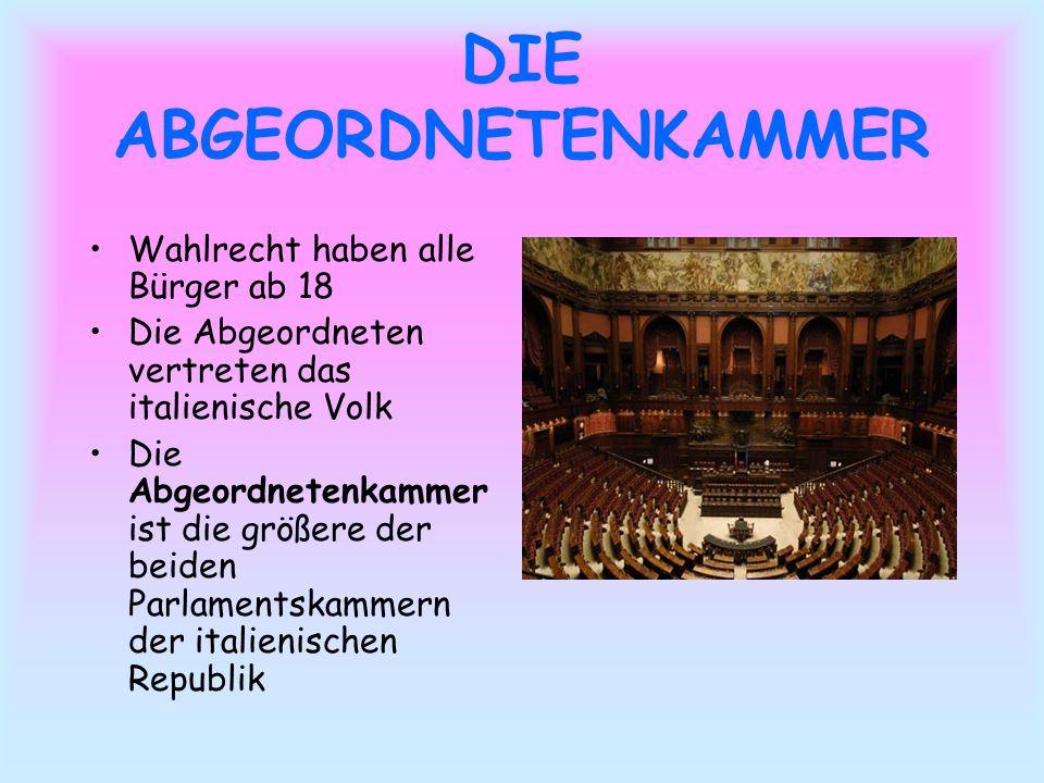 DER SENAT Wahlrecht haben alle Bürger ab 25 Es ist die zweite Kammer des Parlaments und hat ähnliche Kompetenzen wie die erste Kammer.