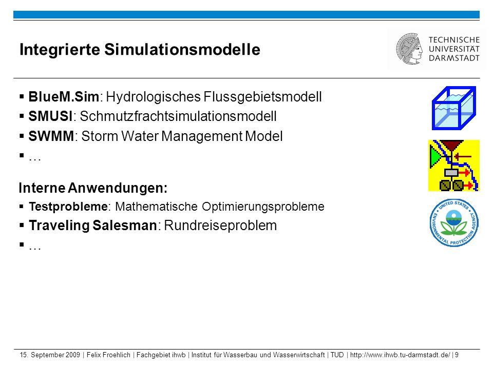 15. September 2009 | Felix Froehlich | Fachgebiet ihwb | Institut für Wasserbau und Wasserwirtschaft | TUD | http://www.ihwb.tu-darmstadt.de/ | 9 Inte