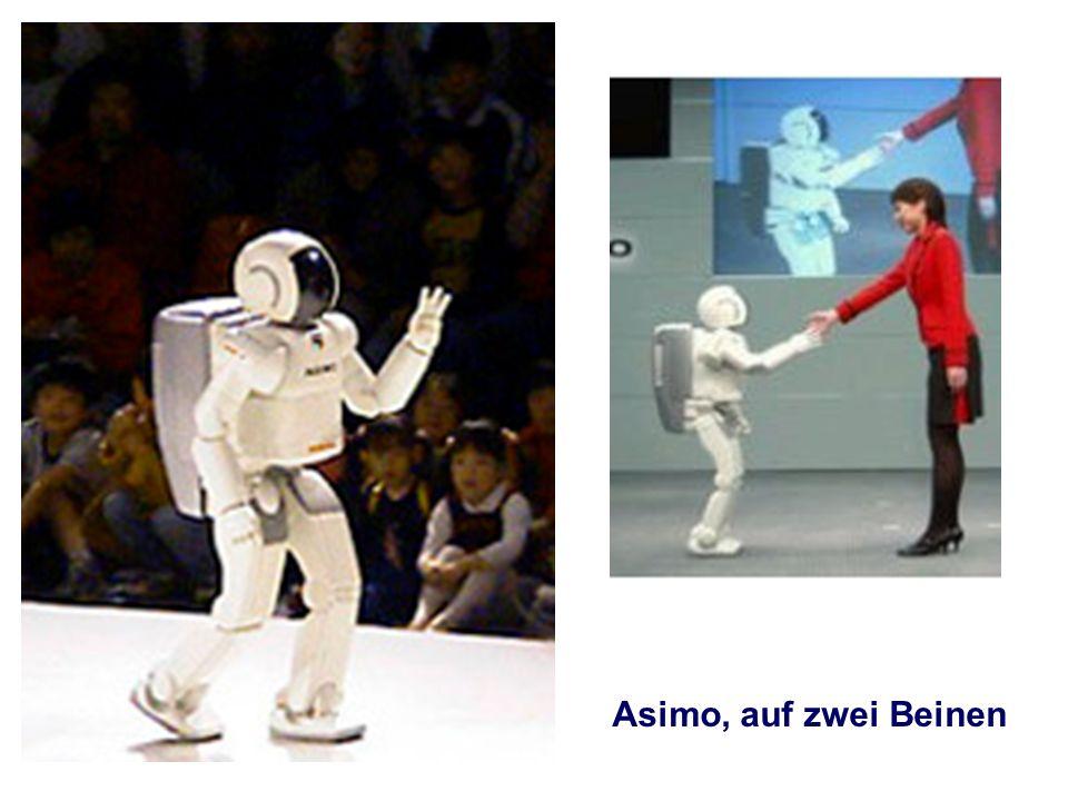 Asimo, auf zwei Beinen