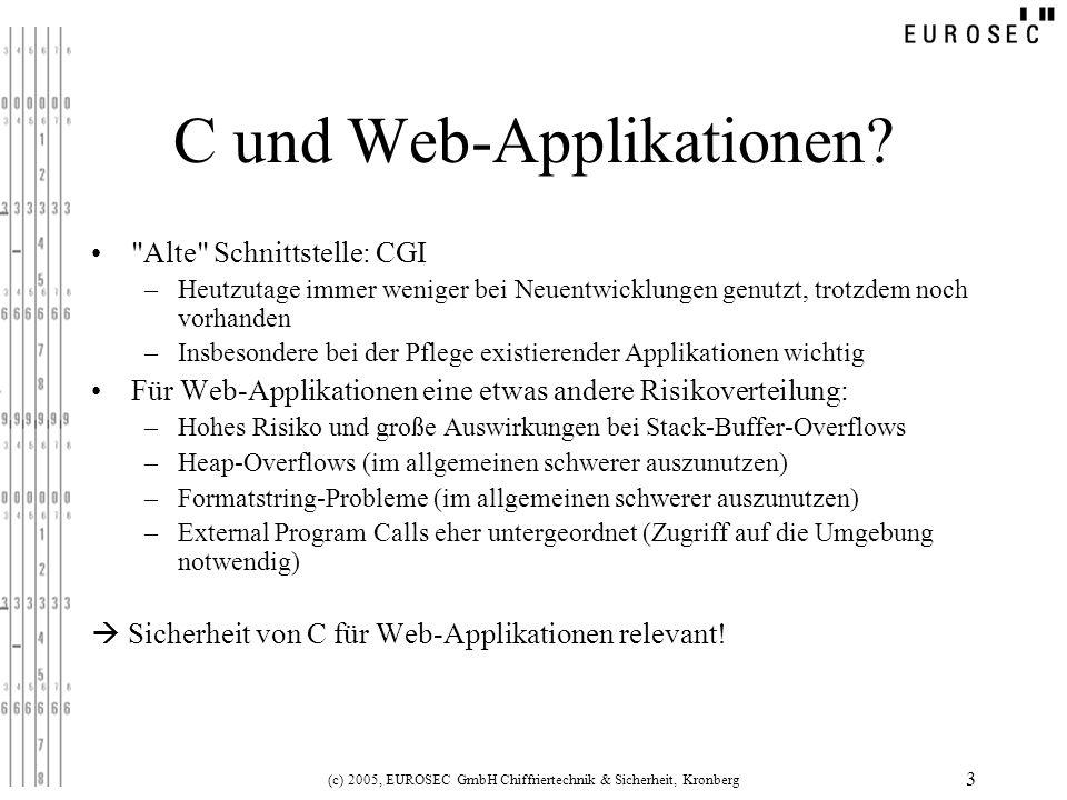 (c) 2005, EUROSEC GmbH Chiffriertechnik & Sicherheit, Kronberg 3 C und Web-Applikationen?