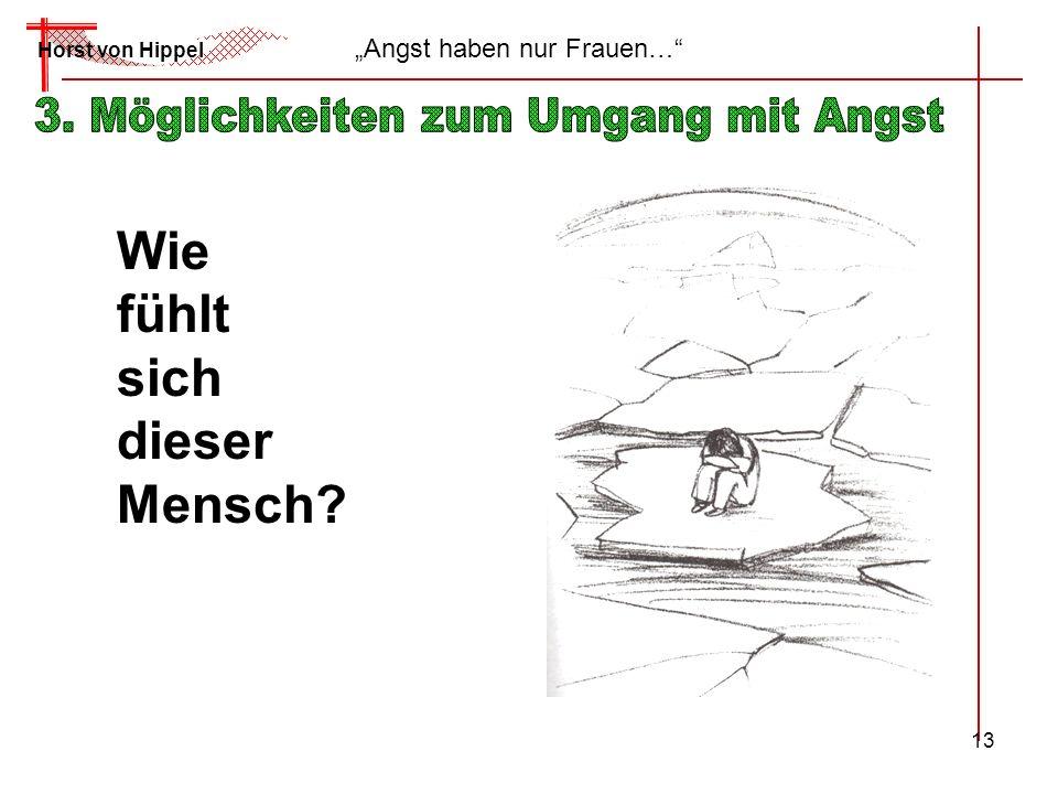 13 Horst von Hippel Angst haben nur Frauen… Wie fühlt sich dieser Mensch?