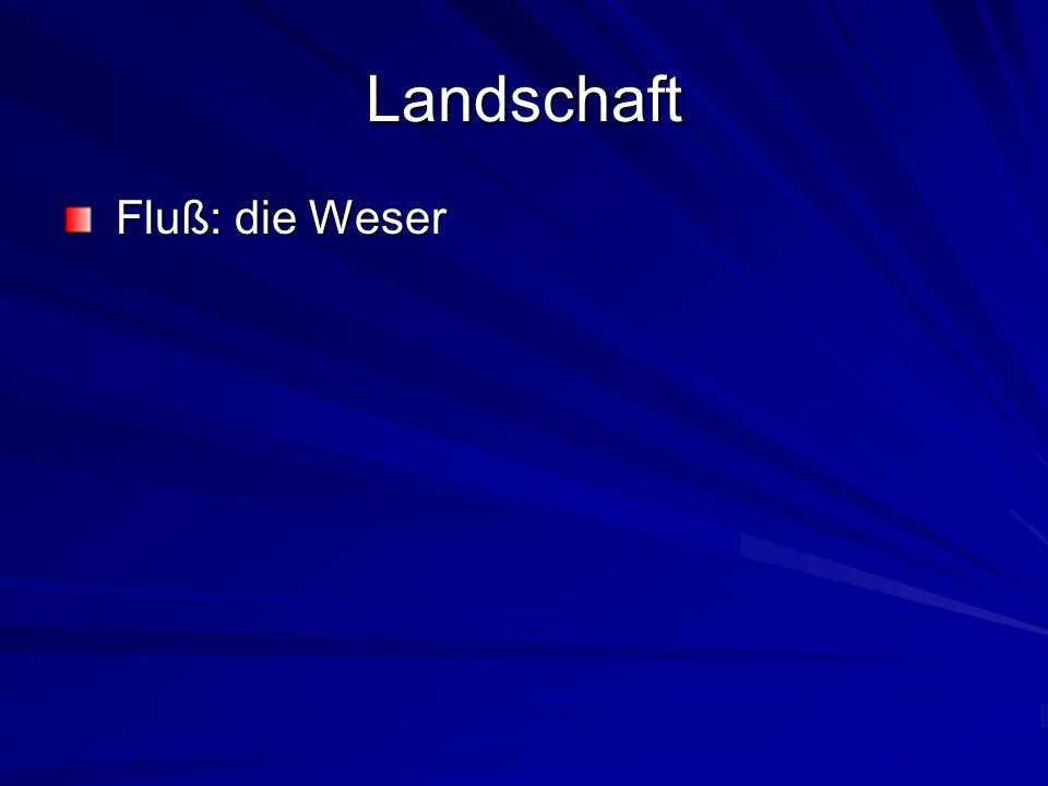 Landschaft Fluß: die Weser Fluß: die Weser