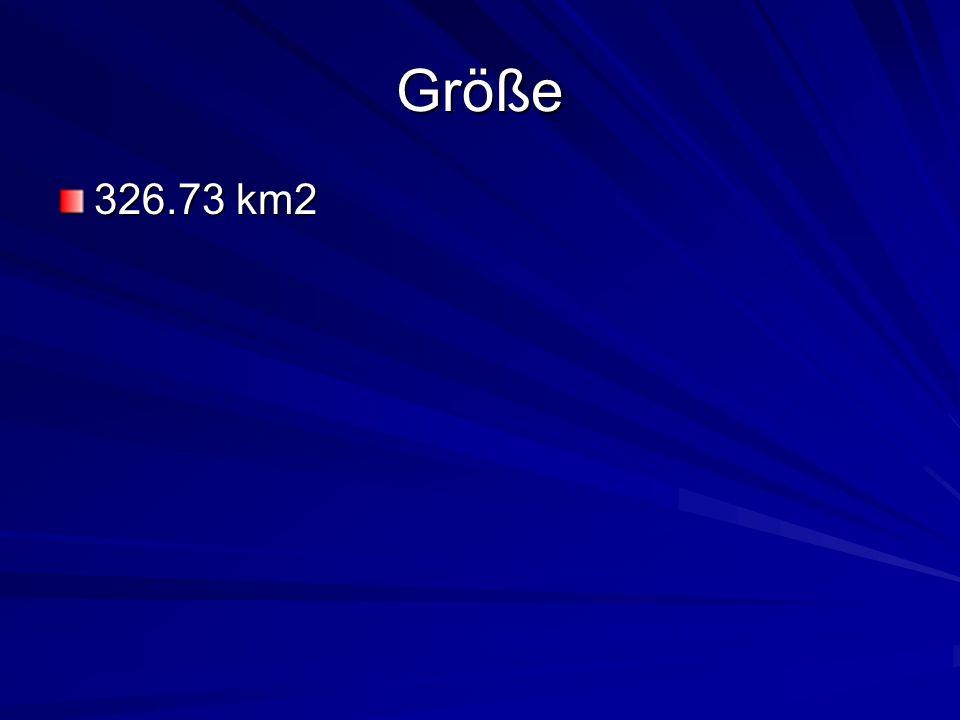 Größe 326.73 km2