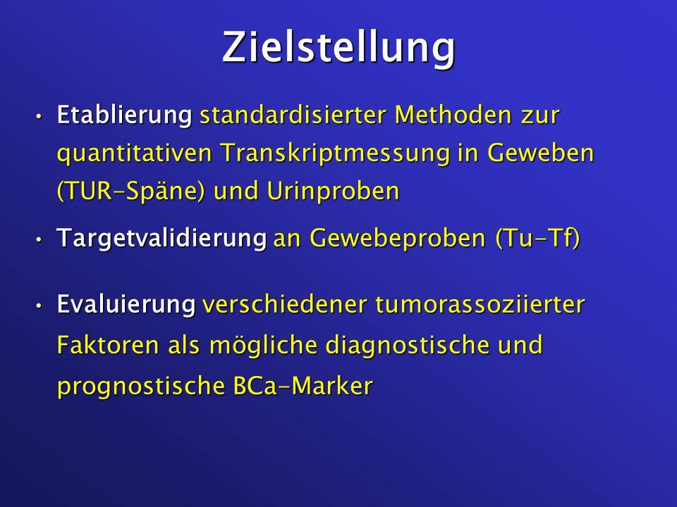SVV/TBP in Urinen von BCa-Patienten und Kontrollen