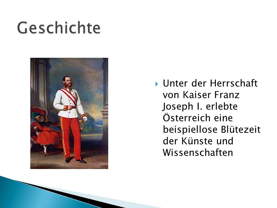 Unter der Herrschaft von Kaiser Franz Joseph I. erlebte Österreich eine beispiellose Blütezeit der Künste und Wissenschaften