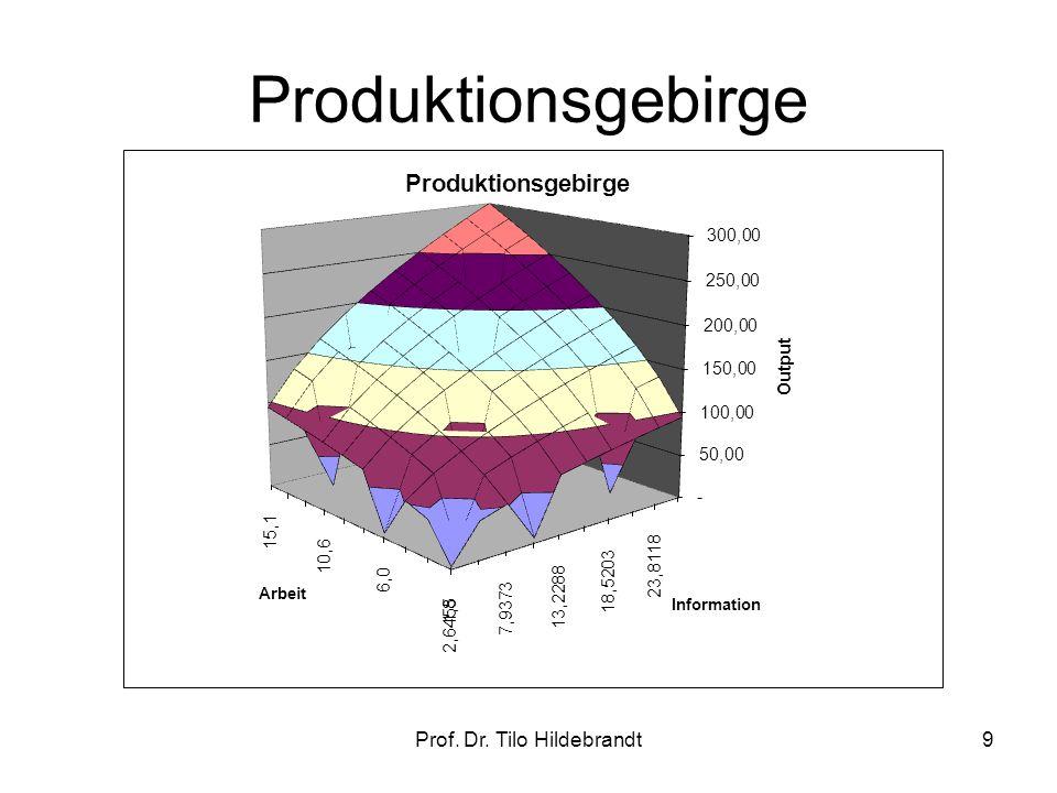 Ökonomisches Prinzip Minimierung mit a,α,β>0 10Prof. Dr. Tilo Hildebrandt