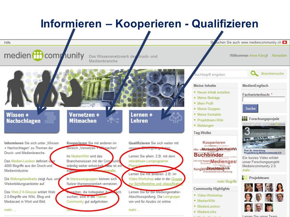 Mediencommunity 2.0 Informieren – Kooperieren - Qualifizieren