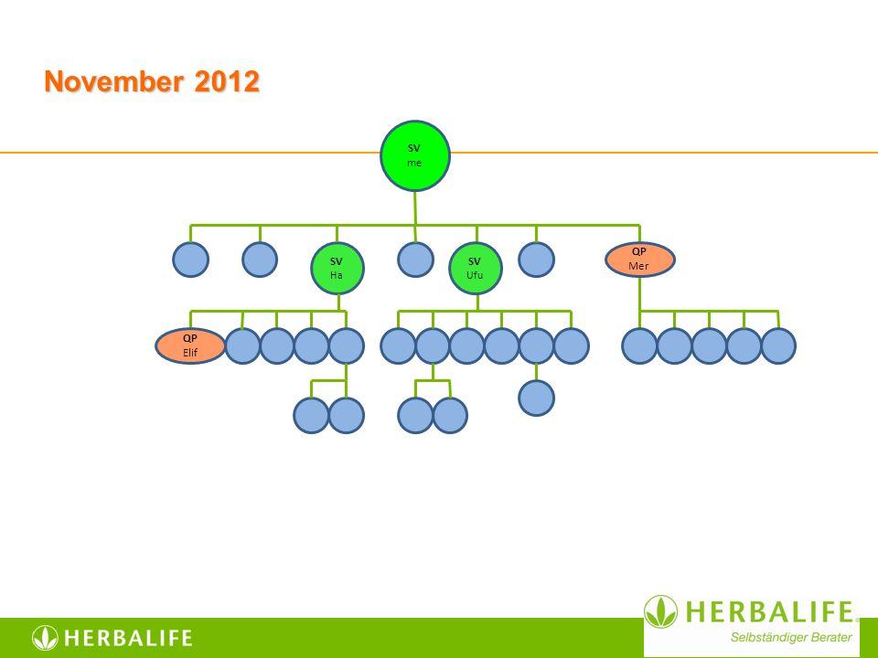 November 2012 SV Ha SV me SV Ufu QP Mer QP Elif
