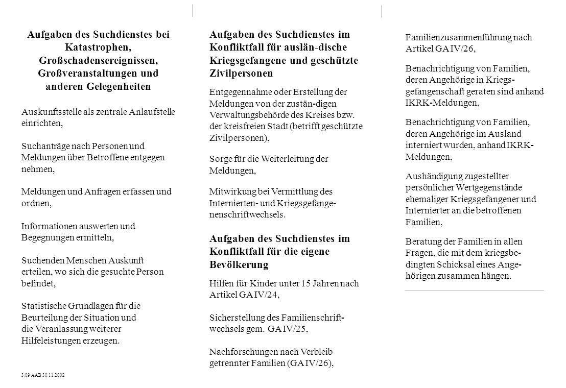 Familienzusammenführung nach Artikel GA IV/26, Benachrichtigung von Familien, deren Angehörige in Kriegs- gefangenschaft geraten sind anhand IKRK-Meld