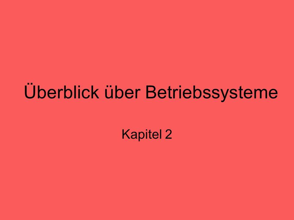 Überblick über Betriebssysteme Kapitel 2