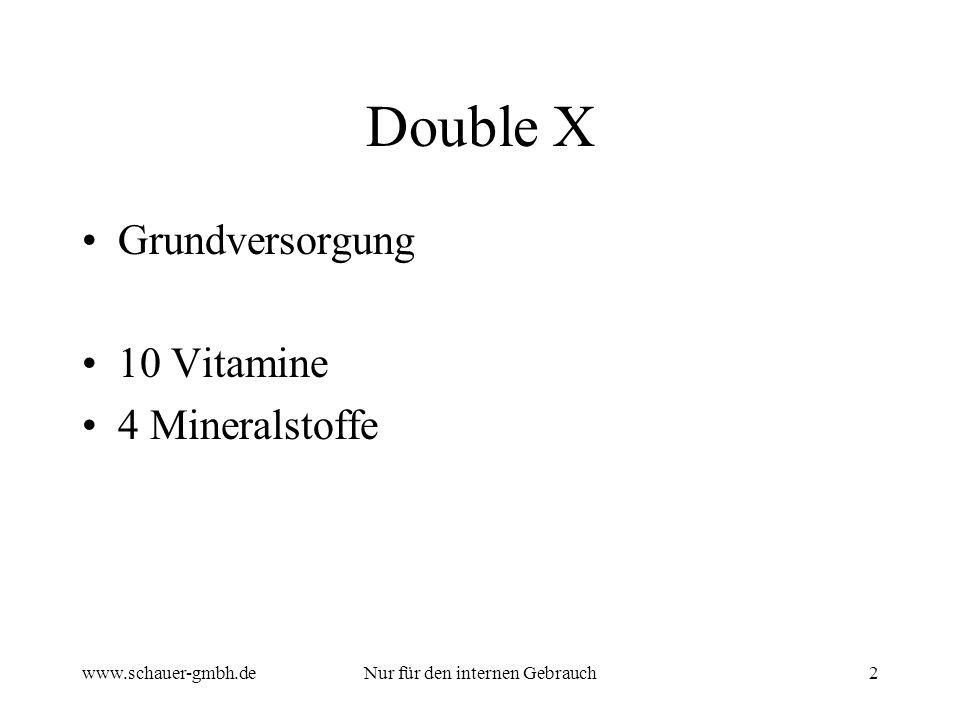 www.schauer-gmbh.deNur für den internen Gebrauch2 Double X Grundversorgung 10 Vitamine 4 Mineralstoffe
