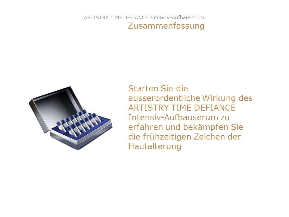 ARTISTRY TIME DEFIANCE Intensiv-Aufbauserum Zusammenfassung Starten Sie die ausserordentliche Wirkung des ARTISTRY TIME DEFIANCE Intensiv-Aufbauserum