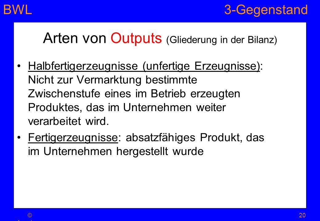 BWL3-Gegenstand 20© Ansel m Dohle- Belting er 2008 Halbfertigerzeugnisse (unfertige Erzeugnisse): Nicht zur Vermarktung bestimmte Zwischenstufe eines