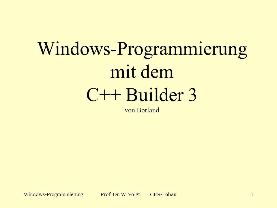 Windows-ProgrammierungProf.Dr. W.