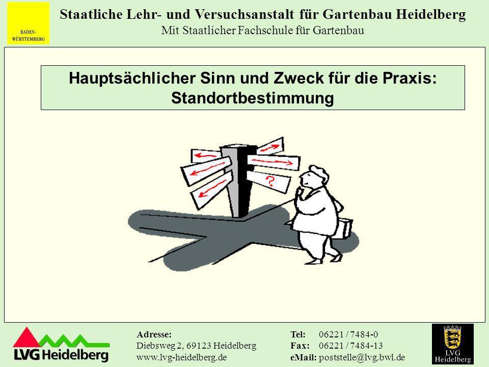 Staatliche Lehr- und Versuchsanstalt für Gartenbau Heidelberg Mit Staatlicher Fachschule für Gartenbau Tel: Fax: eMail: 06221 / 7484-0 06221 / 7484-13 poststelle@lvg.bwl.de Adresse: Diebsweg 2, 69123 Heidelberg www.lvg-heidelberg.de Beispiel Ertrag aus Eigenproduktion 912.850 + Ertrag aus Handel-u.Dienstleistung + sonstiger Betriebsertrag + 35.000 + Ertrag aus Finanzvermögen + 2.200 + sonstiger u.
