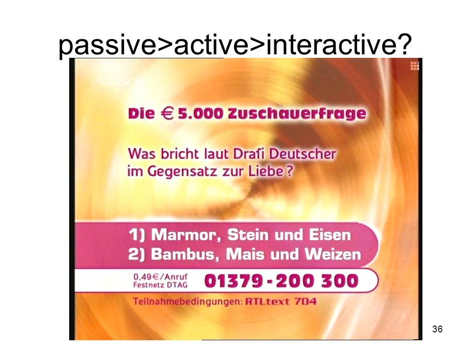 36 passive>active>interactive?
