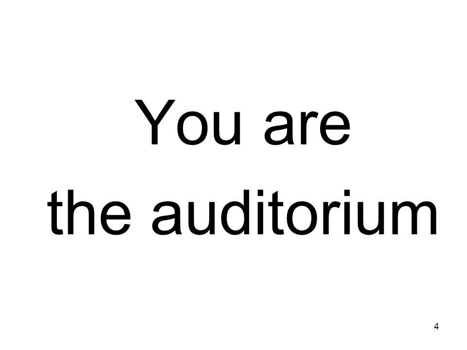 4 You are the auditorium