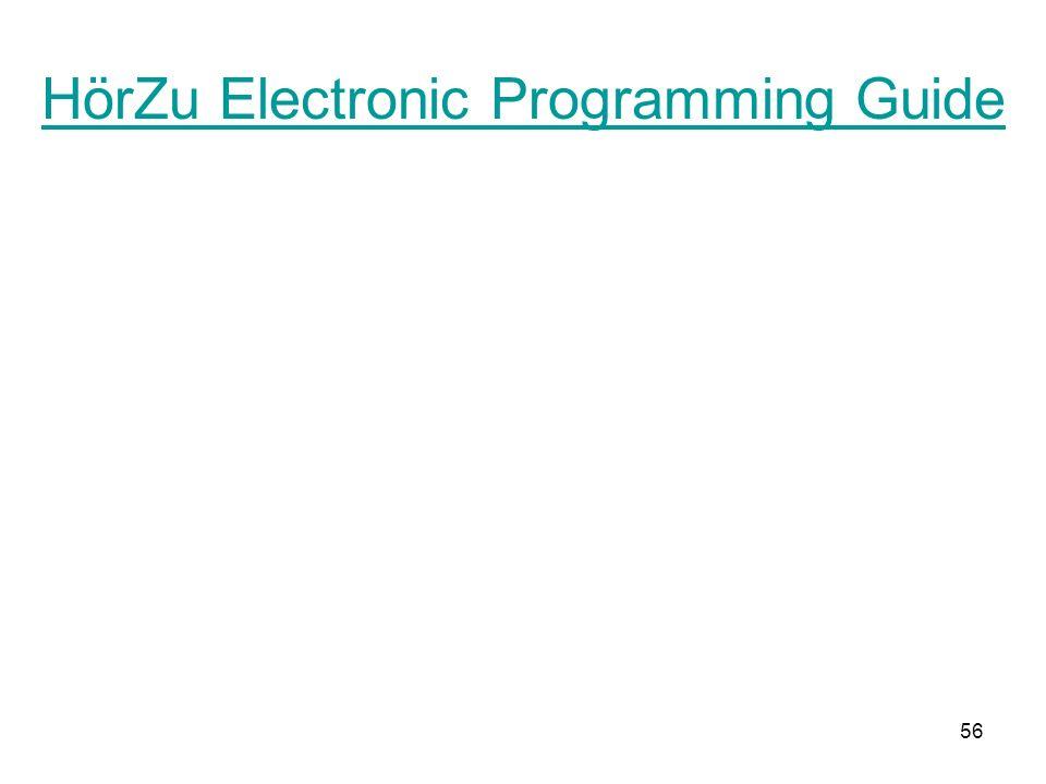 56 HörZu Electronic Programming Guide