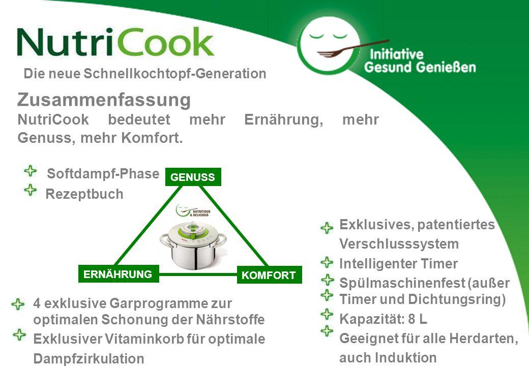 Softdampf-Phase Rezeptbuch 4 exklusive Garprogramme zur optimalen Schonung der Nährstoffe Exklusiver Vitaminkorb für optimale Dampfzirkulation Exklusi