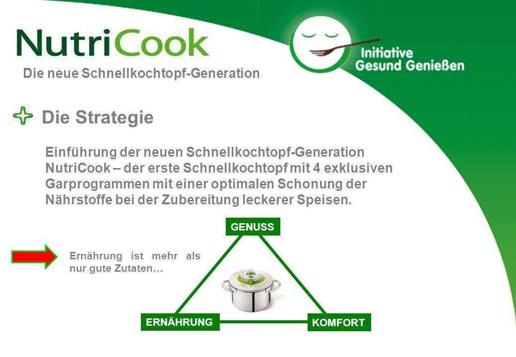 Die neue Schnellkochtopf-Generation Die Strategie Einführung der neuen Schnellkochtopf-Generation NutriCook – der erste Schnellkochtopf mit 4 exklusiv