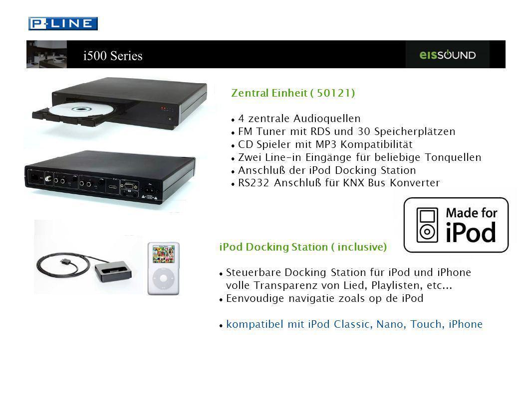 Zentral Einheit ( 50121) 4 zentrale Audioquellen FM Tuner mit RDS und 30 Speicherplätzen CD Spieler mit MP3 Kompatibilität Zwei Line-in Eingänge für b