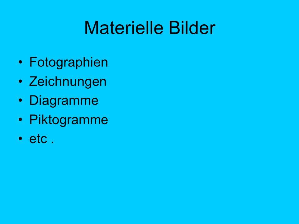 Materielle Bilder Fotographien Zeichnungen Diagramme Piktogramme etc.