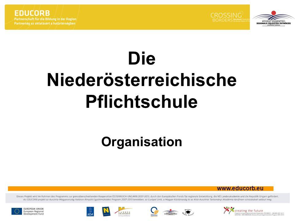 www.educorb.eu Die Niederösterreichische Pflichtschule Organisation