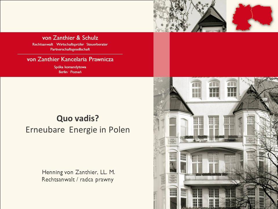 von Zanthier & Schulz Berlin· Poznań 2 von Zanthier & Schulz Kanzlei von Zanthier & Schulz wurde 1992 mit dem Ziel gegründet, Unternehmen mit Wirtschaftsaktivitäten Richtung Osteuropa zu beraten.
