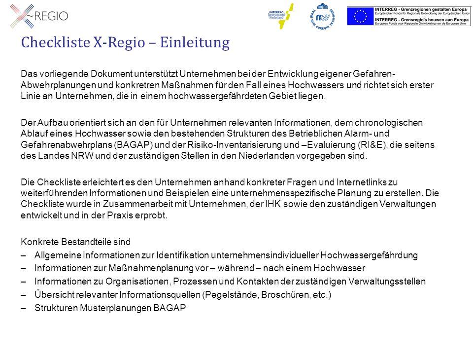 Checkliste X-Regio – 5.