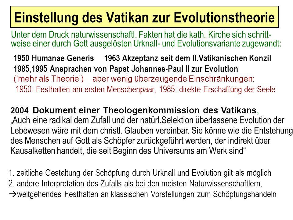 2005 Im Festamt zu seiner Amtseinführung bekräftigt Papst Benedikt XVI : Wir sind nicht das zufällige und sinnlose Produkt der Evolution.