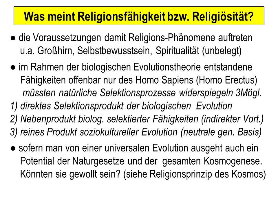 Was meint Religionsfähigkeit bzw. Religiösität.