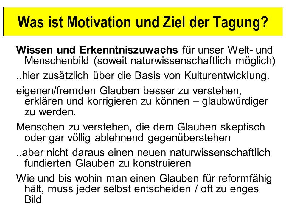 Was ist Motivation und Ziel der Tagung.