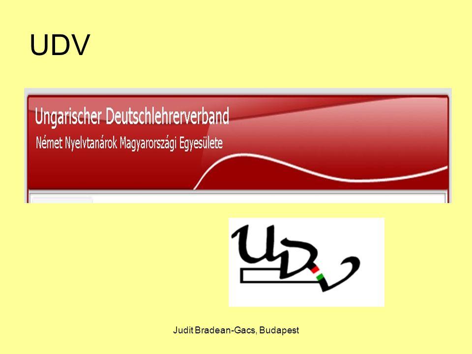 Judit Bradean-Gacs, Budapest DUfU Deutschunterricht für Ungarn 1-2.2007 – 22. Jahrgang