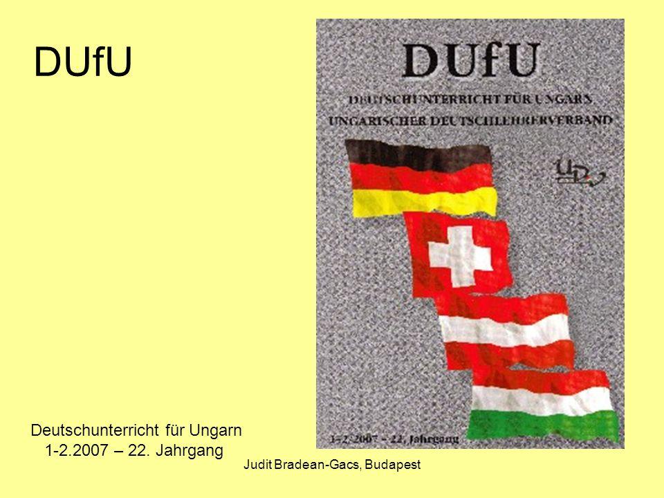 Judit Bradean-Gacs, Budapest Budapester Beiträge zu DaF Budapester Beiträge zu Deutsch als Fremdsprache Ilona Feld-Knapp (Hrsg.): Lernen lehren - Lehren lernen Bd.