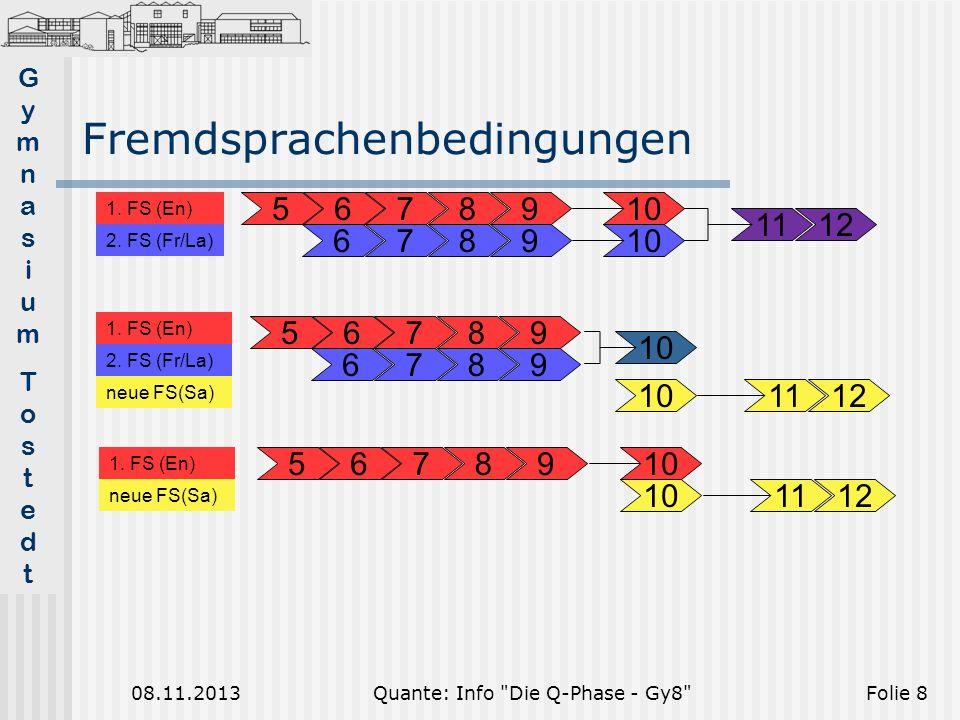 GymnasiumTostedtGymnasiumTostedt 08.11.2013Quante: Info