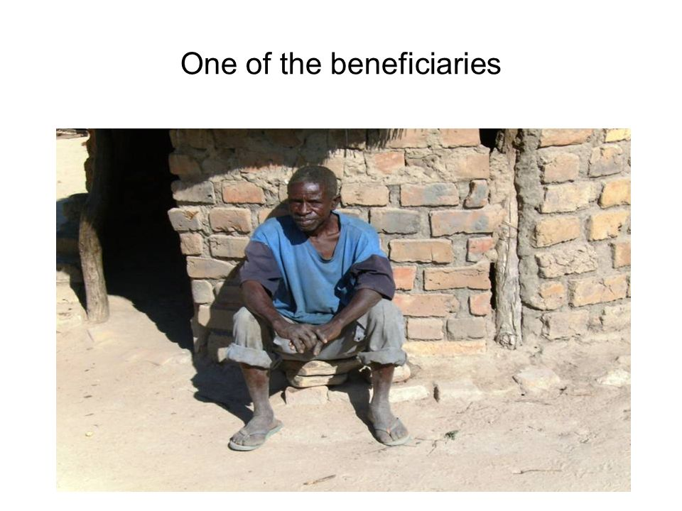 One of the beneficiaries
