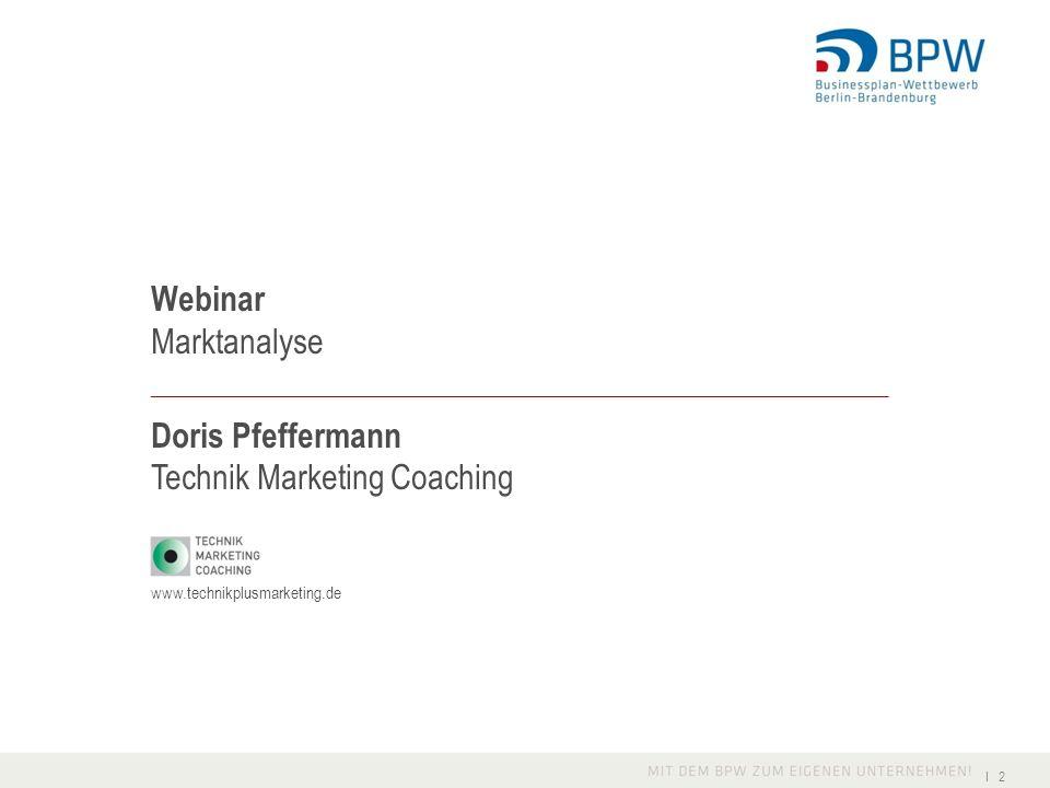 Marktanalyse in zwei Teilen Heutiges Seminar: Grundlagen und Verständnis der Vorgehensweise Weiterführende Seminare B2B und B2C: konkrete Fallbeispiele zu den wichtigsten Punkten.