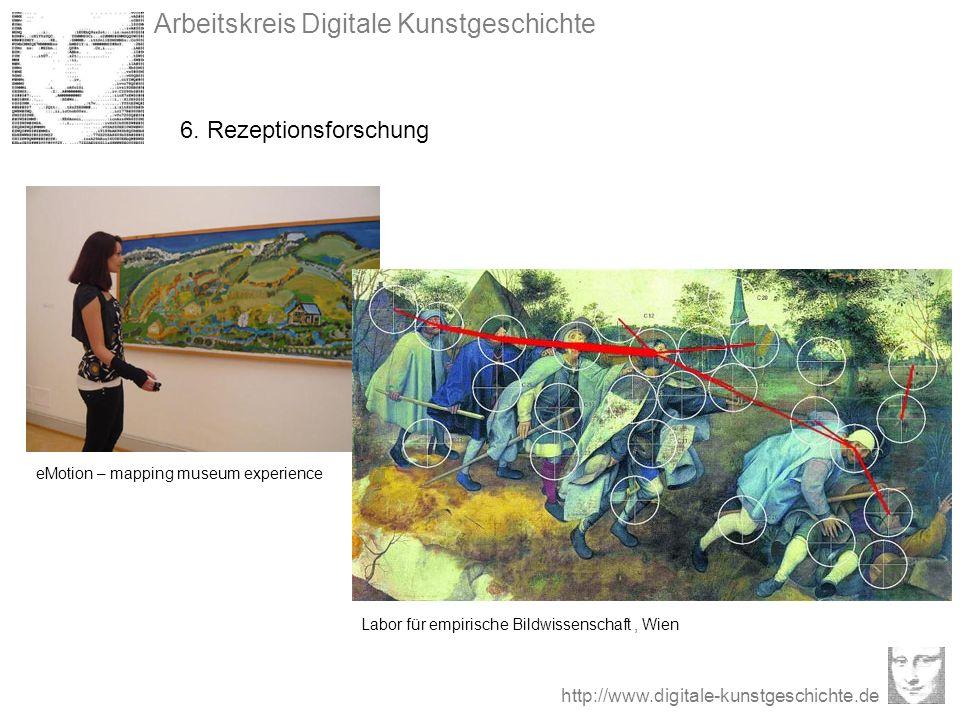 Arbeitskreis Digitale Kunstgeschichte http://www.digitale-kunstgeschichte.de 6. Rezeptionsforschung Labor für empirische Bildwissenschaft, Wien eMotio