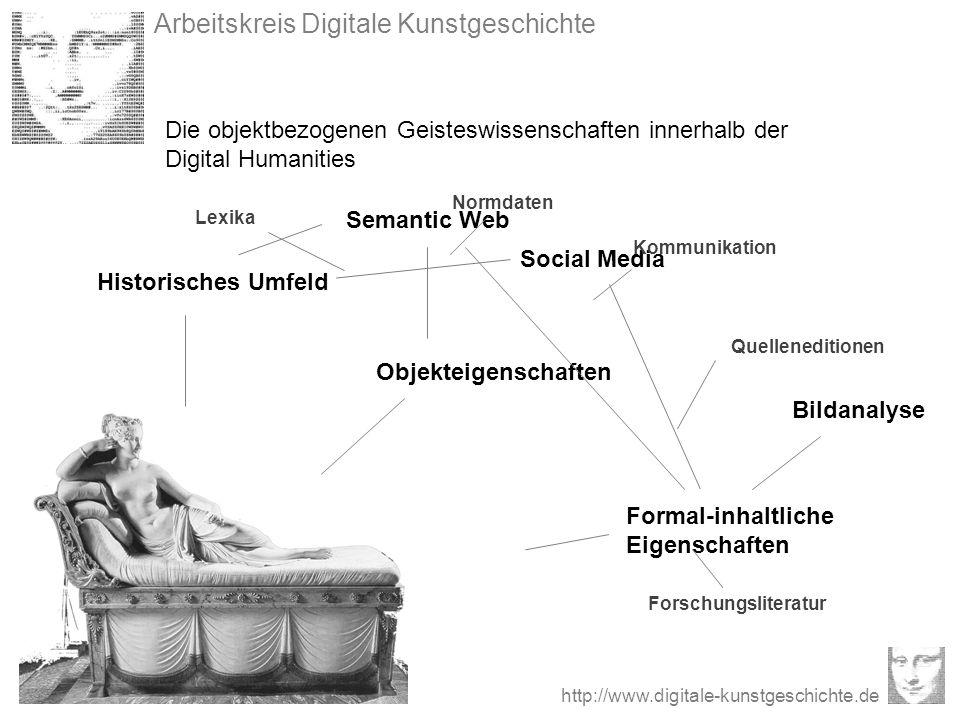 Arbeitskreis Digitale Kunstgeschichte http://www.digitale-kunstgeschichte.de Die objektbezogenen Geisteswissenschaften innerhalb der Digital Humanitie