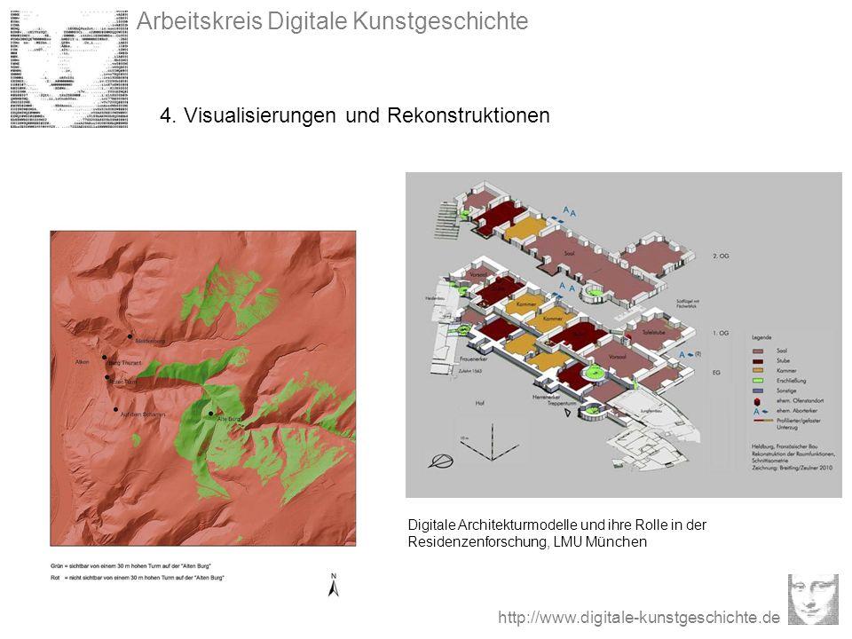 Arbeitskreis Digitale Kunstgeschichte http://www.digitale-kunstgeschichte.de 4. Visualisierungen und Rekonstruktionen Digitale Architekturmodelle und