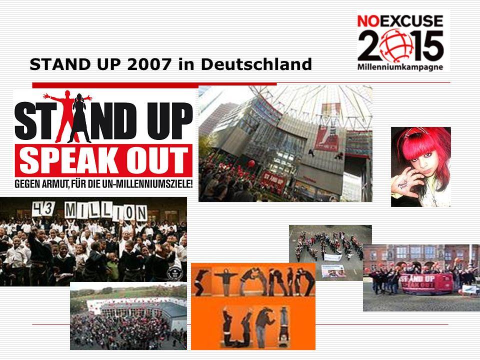 STAND UP 2007 in Deutschland