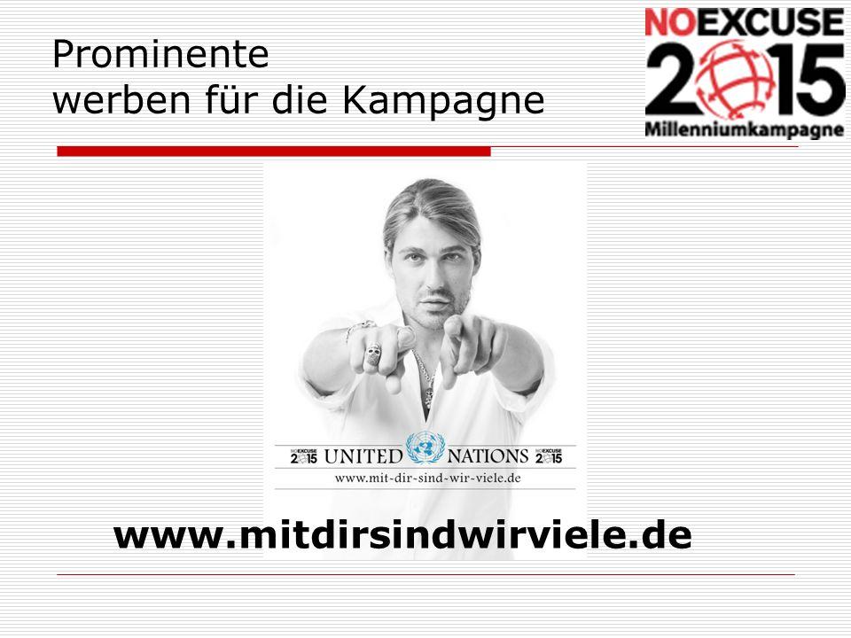 Prominente werben für die Kampagne www.mitdirsindwirviele.de