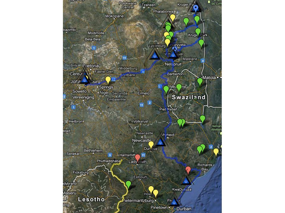 Saturday, 17/ August 2013 Fahrt nach Johannesburg, 340km