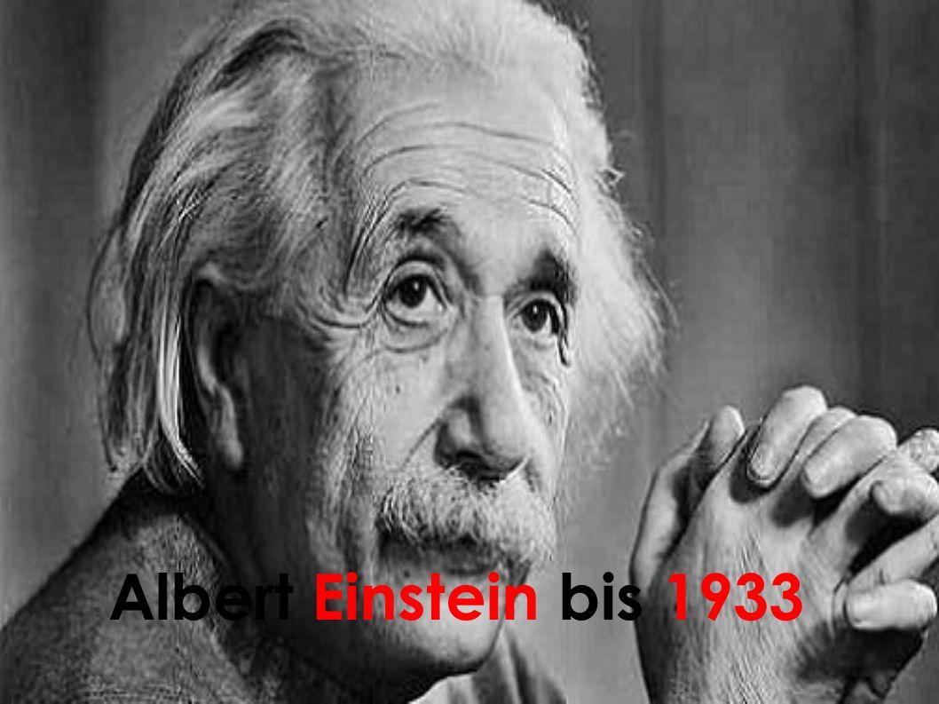 1932: Einstein nimmt einen Ruf des noch in der Gründung befindlichen Institutes for Advanced Study in Princeton, New Jersey, an Aufgrund der Geschehnisse in Nazideutschland betritt er nie wieder deutschen Boden