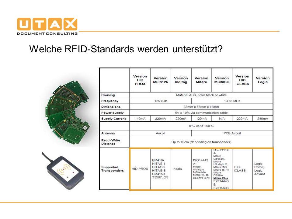 Welche RFID-Standards werden unterstützt?