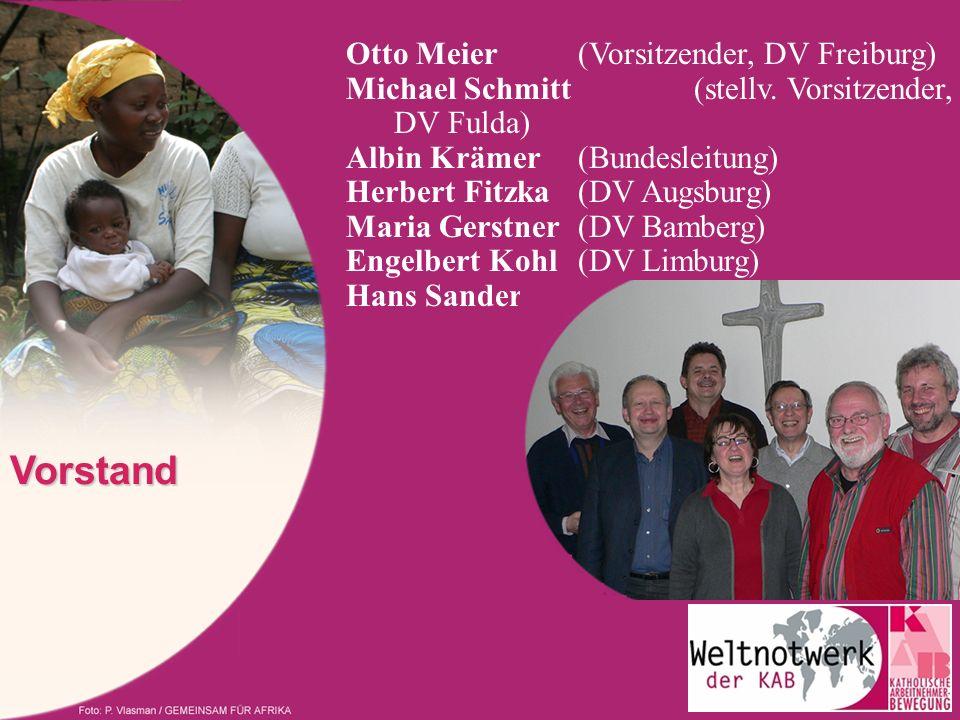 Vorstand Otto Meier (Vorsitzender, DV Freiburg) Michael Schmitt (stellv. Vorsitzender, DV Fulda) Albin Krämer (Bundesleitung) Herbert Fitzka (DV Augsb